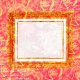 Scrapbook flowers frame background royalty free illustration