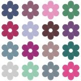 scrapbook flowers on white background Stock Image