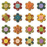Scrapbook flowers on white background Royalty Free Stock Photography
