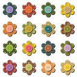 Scrapbook flowers on white background Stock Images