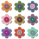 Scrapbook flowers on white background Royalty Free Stock Images