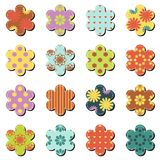Scrapbook flowers on white background Royalty Free Stock Image