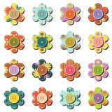 Scrapbook flowers on white background Stock Photography