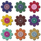 Scrapbook flowers on white background Royalty Free Stock Photos