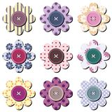 Scrapbook flowers on white Stock Photography