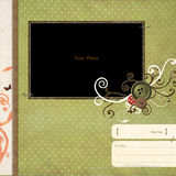 Scrapbook frame royalty free stock images