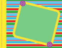Scrapbook frame. Scrapbook style illustration with open copyspace area for text Stock Photo