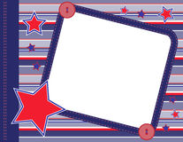 Scrapbook frame. Scrapbook style illustration with open copyspace area for text vector illustration