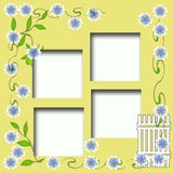 Scrapbook frame Stock Images