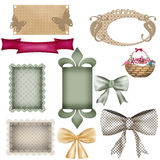 Scrapbook frame design patterns Stock Photos