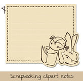 Scrapbook funny notepaper for kids Stock Photo