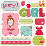 Scrapbook Girl Set Royalty Free Stock Photo
