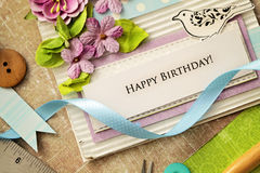 Scrapbook greeting card Stock Images