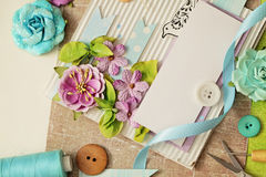 Scrapbook greeting card Royalty Free Stock Images
