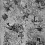 Scrapbook Greyscale fundo pintado da colagem ilustração stock