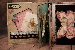 Scrapbook handmade Stock Photos