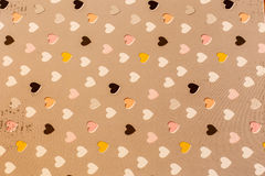 Scrapbook hearts paper as a background Stock Photography