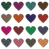 Scrapbook hearts on white background Stock Image