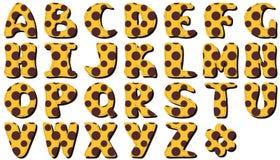Scrapbook lace alphabet letters Stock Photos