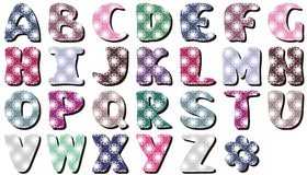 Scrapbook lace alphabet letters Royalty Free Stock Images