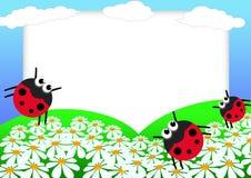 scrapbook ladybug иллюстрация штока