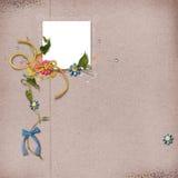 Scrapbook layout. Beautiful scrapbook layout with photo frame Royalty Free Stock Photos