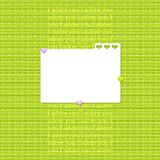 Scrapbook layout in green colors Royalty Free Stock Photography
