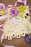 Scrapbook materials Stock Photography