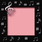 Scrapbook music Stock Photos