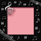 Scrapbook music Royalty Free Stock Photos