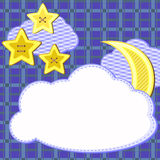 Scrapbook night sky card Stock Photos
