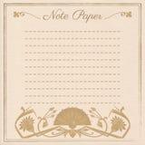 Scrapbook note paper Stock Images