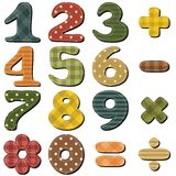 Scrapbook numbers and signs. On white background Stock Images