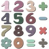 Scrapbook numbers on white Royalty Free Stock Photo