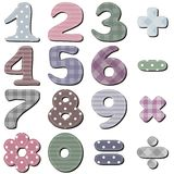Scrapbook numbers on white Stock Image