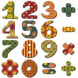 Scrapbook numbers on white. Scrapbook numbers different ornaments on white background Stock Images