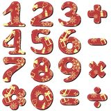 Scrapbook numbers on white Stock Photography