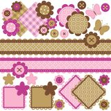 Scrapbook objects on white background Royalty Free Stock Images