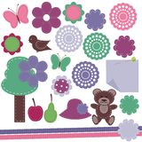 Scrapbook objects on white background Royalty Free Stock Image