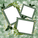 Scrapbook page Floral border frames Royalty Free Stock Photo