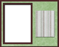 Scrapbook page, frame or card. A brown and green scrapbook page, picture frame or portrait card Royalty Free Stock Images