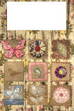 Scrapbook page squares Stock Image