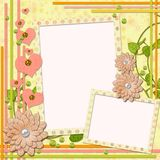 Scrapbook page for two photos Stock Photography