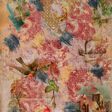 Scrapbook painted collage Background Stock Photos