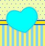 Scrapbook - paper for children`s packaging or children`s metrics with a heart Royalty Free Stock Photography