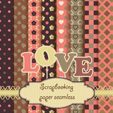 Scrapbook paper seamless - valentines day Stock Photo