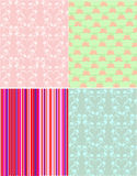 Scrapbook patterns Stock Images