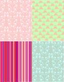Scrapbook Patterns Stock Images
