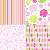 Scrapbook patterns for design,  Royalty Free Stock Image