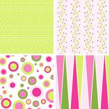 Scrapbook patterns for design,  Royalty Free Stock Images